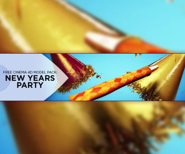 Cinema 4D New Years 3D Model Pack | eyedesyn