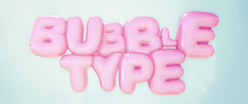 3D Bubble Type Plugin for Cinema 4D   eyedesyn
