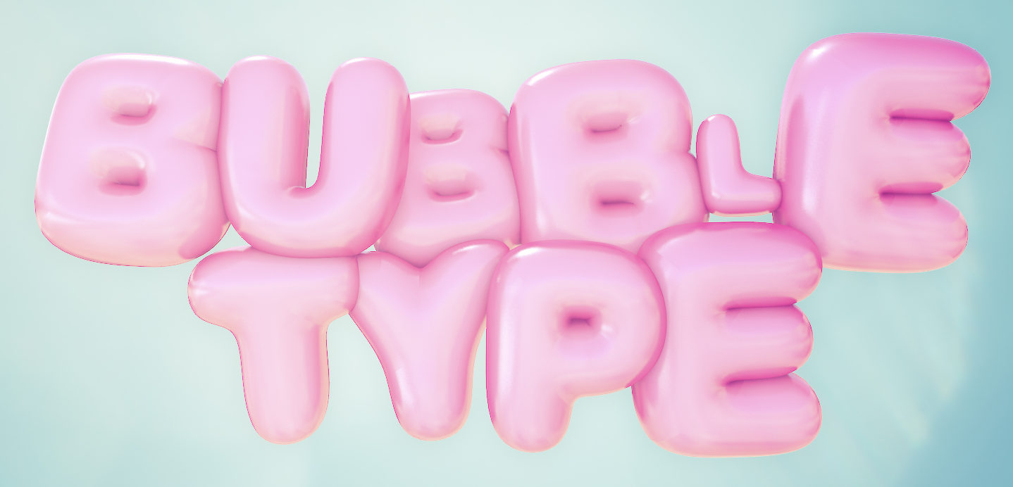 3D Bubble Type Plugin for Cinema 4D | eyedesyn