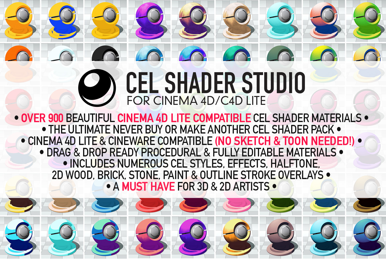Cel Shader Studio for Cinema 4D | eyedesyn